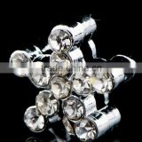 Fashion Alloy Rhinestone Star Shape 8mm Slide Charms Shining Beads Jewelry