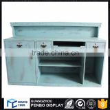 High quality antique small wooden shop office design checkout cashier counter for sale