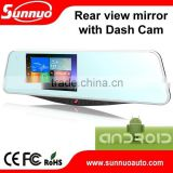 hot selling newest Android full hd 1080p wifi car dvr with 5 inch touch screen and GPS Navigator mirror dvr