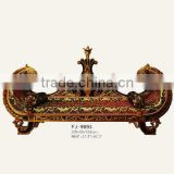 9093 antique finished hand carved wood children sofa - French style luxury sofa design solid wood