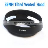39mm Tilted Vented Metal Lens Hood Shade for Leica, Contax Zeiss, Voigtlander Lens