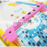 15cm school or office use giraffe plastic scale ruler measuring ruler