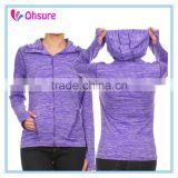 heathred color slim fit yoga top active wear womens gym jacket