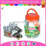 CHILDRENS CRAFT JAR GIANT ART SET POM POMS BEADS PAPER FOAM LETTERS