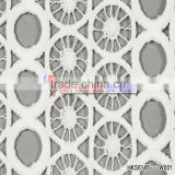 New Products On Website White Milk Silk Geometric Patterns Popular Items For Geometric Fabrics Chemical Guipure Lace Fabric