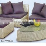 00 patio furniture outdoor new design comfortable round rattan sectional sofa set YPS048
