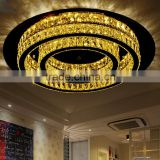 Double Circle 230 LED Ceiling Lamp 36W Antique Crystal Lamp