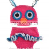 NEWBORN BABY CROCHET KNIT OWL HAT COSTUME CLOTHES PHOTO PHOTOGRAPHY PROP