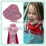 Girls Swim Training Floatsuit Swimming Aid Float Suits with short sleeves Size S-M-L for Kids aged 2-3-4-5yrs old                                                                         Quality Choice