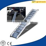 6FT Straight Aluminum Truck Loading Ramp, 440LB Folding Bike/Wheel Barrow/Lawn Mower Aluminum Ramp with CE