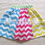 New Arrive Chevron print multicolor cotton skirt Zig zag chevron skirt for girls