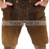 Leather Bavarian Shorts, Leather Pant Suide Leather shorts,German Wear Trachten Bavarian Shorts,