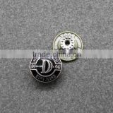 Embossing Black Shank Button Metal