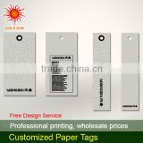 Cheap hot sales hang tags & hang tag with garment price hangtags and bag for fastener