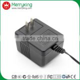 UL-listed 6v 12v 5v 2a linear power supply with double sockets