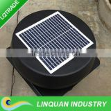 Round shroud cover 12 inch 12W fixed solar panel roof mounted industrial exhaust fan