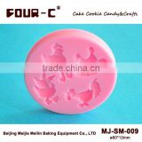 3D silicone cake decorating molds,farm birds fondant and gum paste molds,embossing molds