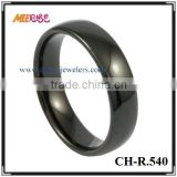 IP black plated tungsten mens ring blanks