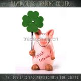 Ceramic New Year lucky pig w/clip home decoration