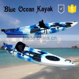 2015 hot sale new summer style kayak with pedals/sea kayak with pedals/ocean sea kayak with pedals