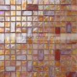 JY-G-75 Symphony mosaic coloured glaze pub bathroom floor iridescent glass tiles