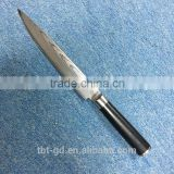 "8"" Carving knife make of VG10 damascus knives and G10 handle of kitchen knife set DMS011"