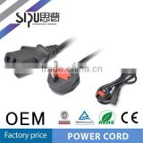 SIPU cheap price UK power cable plug wholesale 1.5m ac power cord high quality eletrical cord