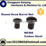 Round Head Barrel Nut (Furniture Nuts and Bolts) with Bright(White)/ Black / Blue/ Yellow ZincPlated; M6, M8.