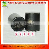 OEM Custom Durable Deluxe Game Black Faux Leather Dice Cup