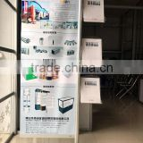 New aluminum showroom sample and brochure display racks free standing display panel retail display stand