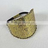 Costume Fashion Women Jewelry India Brass Ring Emosed Hair Band Latest Design New Pattern,Indian Regional,Gold Finish,Antique