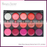 15 color waterproof lip gloss containers lip shape