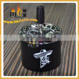 JL-015S Yiwu jiju personalized cool Durable round metal Spray paint cigarette ashtray wholesaler