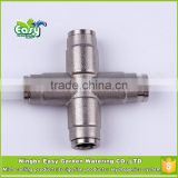 "Quick Coupling cross connector 3/8"". Quick Coupling Slip lock cross. for mist cooling system"