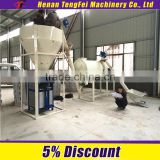 1-8 tons gypsum powder production line with automatic packing machine