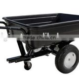 Plastic tray dumping Trailer for Ride on Mower