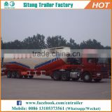 Tri-axle v type 60 tons dry bulk transport semi trailer cement carrier used tanker trailer