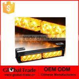 8 LED 20CM Long Bar Amber/Yellow Emergency Traffic Advisor Flash Strobe Light Bar Warn Lamp A1925