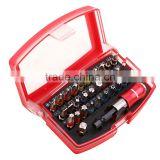 32pcs Ratchet Screwdriver Bit torx phillips hex slotted Holder and Quick Release Magnetic Bits set