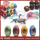 Chocolate Peanut Candy with Dinosaur Toys in Surprise Dinosaur Egg Toy Candy