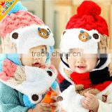 Children robot hat scarf modelling two-piece private baby autumn winter hat