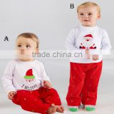 2016 New fashion wholesale Christmas clothes set for baby and children