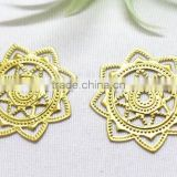 DIY hollow out flower garment accessories brass flower jewelry accessories metal flower jewelry accessories