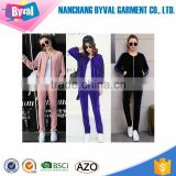 Wholesale baseball Jogging Suit and Sports Tracksuits for Women