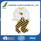 "Boys Girls ""Bumble Bee"" 2 Piece Pajama 100% Cotton (6M-14 Years)"
