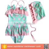 Kid Toddler Baby Girls Bathing Suit Lace Bow Dot One Piece Swimwear