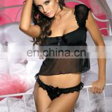 Beauty's Love transparent erotic bra sexy bra and g-strings set lingerie black underpant for women
