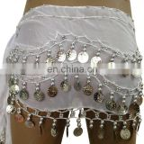 BestDance indian white gold belly chain sequin belly dancing gold/silver coins waist chain OEM