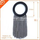 Black ring clasp chain trimmings for garment ladys