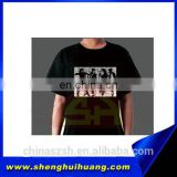 Vivid free sample LED panel t-shirt with customized logo